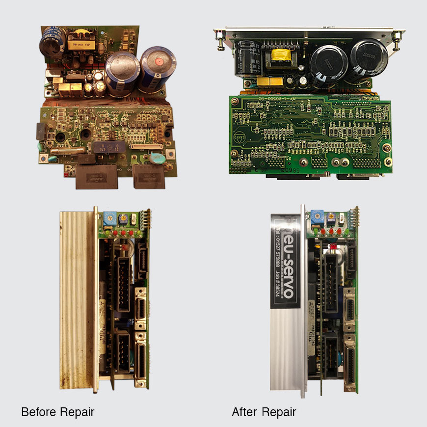 Before and after electronic repair
